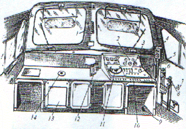 1 - локомотивный светофор;