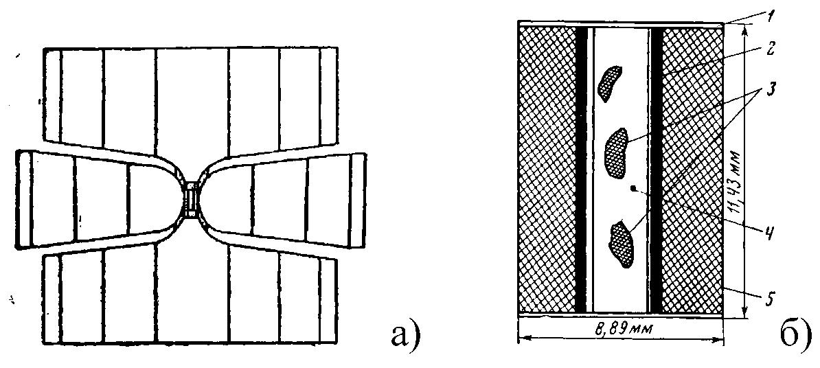 Схема пресс-формы с ячейкой